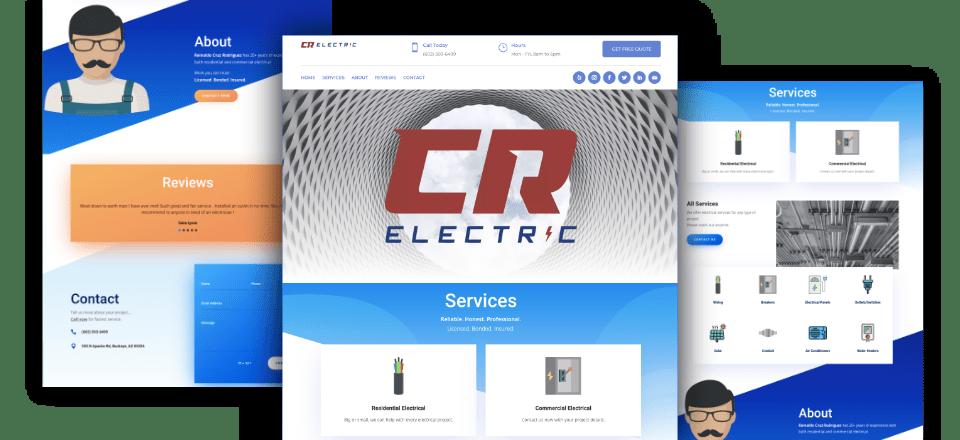 Web Design portfolio image of CR Electric