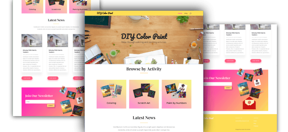 Web Design portfolio image of DIY Color Paint
