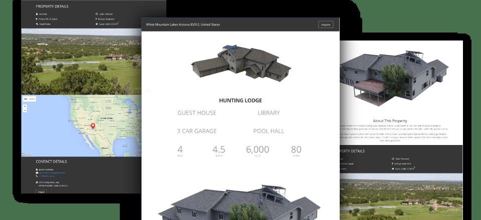 Web Design portfolio image of Mountain Lodge Estate